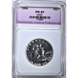 1954 FRANKLIN HALF, NGP SUPERB GEM PR CAMEO