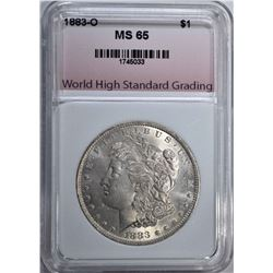1883-O MORGAN DOLLAR, WHSG GEM BU