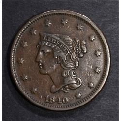 1840 LARGE CENT, VF/XF