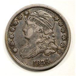 1834 CAPPED BUST DIME, AU