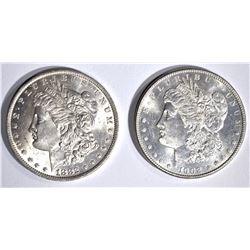 1882-O & 1902-O CH BU MORGAN DOLLARS