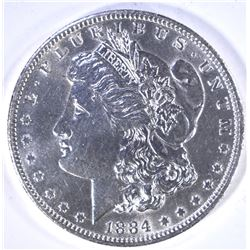 1884-O MORGAN DOLLAR CH BU CLEANED