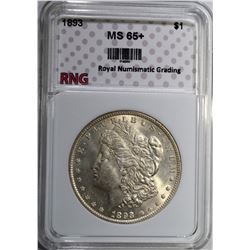 1893 MORGAN DOLLAR RNG GEM BU+