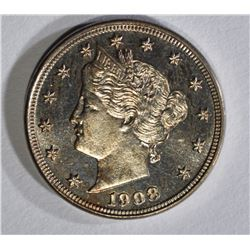 1908 LIBERTY NICKEL GEM PROOF