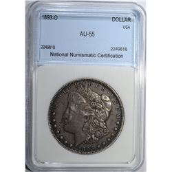 1893-O MORGAN DOLLAR NNC AU BU