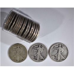$10 FACE WALKING LIBERTY HALF DOLLAR