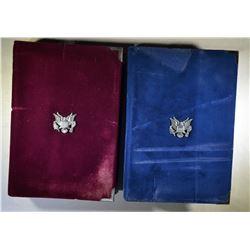 2-U.S. MINT PRESTIGE SETS LESS BOXES CERTS