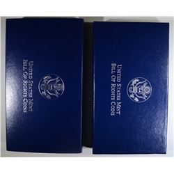 1993 PROOF & UNC BILL of RIGHTS SETS