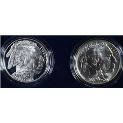 2001 AMERICAN BUFFALO PF & UNC COMMEM DOLLARS
