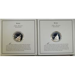 2 SILVER PROOF DOLLARS --