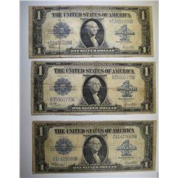 3-1923 $1.00 SILVER  CERTIFICATES, CIRC