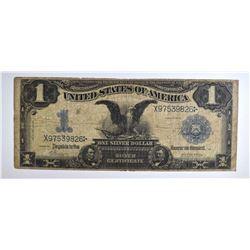 """1899 $1.00 """"BLACK EAGLE"""" SILVER CERTIFICATE, FINE"""