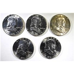 5 - 1962 FRANKLIN HALVES CHOICE BU