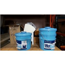 3 WET TASK BUCKETS AND ESTATE GOODS
