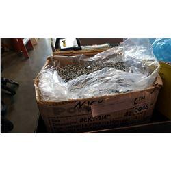 BOX OF ZINC DRYWALL SCREWS