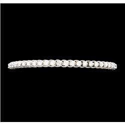 1.65 ctw Diamond Bangle Bracelet - 14KT White Gold