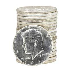 Roll of (20) 1964 Brilliant Uncirculated Kennedy Half Dollars