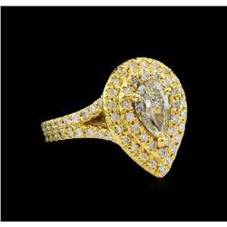 2.09 ctw Diamond Ring - 14KT Yellow Gold