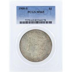 1900-S $1 Morgan Silver Dollar Coin PCGS MS65