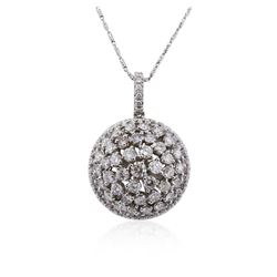 14KT White Gold 2.84 ctw Diamond Pendant With Chain