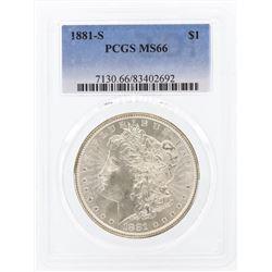 1881-S $1 Morgan Silver Dollar Coin PCGS MS66