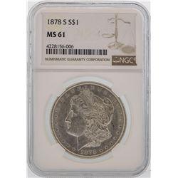 1878-S $1 Morgan Silver Dollar Coin NGC MS61