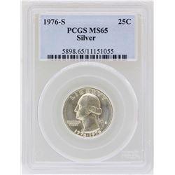 1976-S Washington Quarter Silver Coin PCGS MS65