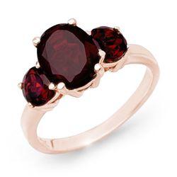 3.05 CTW Garnet Ring 10K Rose Gold - REF-22W2F - 13554
