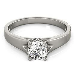 1 CTW Certified VS/SI Diamond Solitaire Ring 18K White Gold - REF-300N6Y - 27792