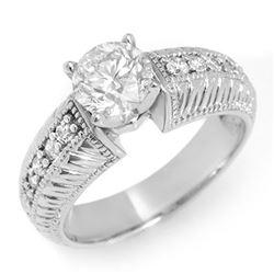 1.26 CTW Certified VS/SI Diamond Ring 18K White Gold - REF-298K5W - 11542