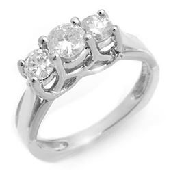 0.75 CTW Certified VS/SI Diamond Ring 18K White Gold - REF-103W5F - 10263