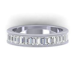 1.50 CTW Baguette Certified VS/SI Diamond Art Deco Eternity 14K White Gold - REF-161F8N - 30318