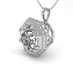 1 CTW VS/SI Diamond Solitaire Necklace 18K White Gold - REF-284F3N - 35994