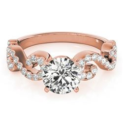 0.9 CTW Certified VS/SI Diamond Solitaire Ring 18K Rose Gold - REF-131K3W - 27853