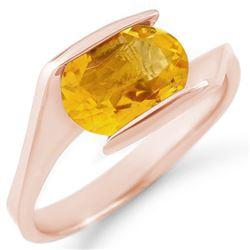 2.0 CTW Citrine Ring 10K Rose Gold - REF-18N8Y - 11351