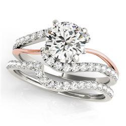 1.62 CTW Certified VS/SI Diamond Bypass Wedding 14K White & Rose Gold - REF-384N8Y - 31821
