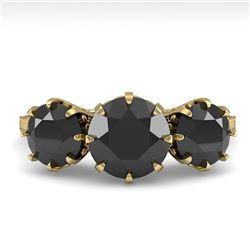 2 CTW Past Present Future Black Diamond Ring 18K Yellow Gold - REF-100M2H - 35779