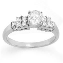1.0 CTW Certified VS/SI Diamond Ring 14K White Gold - REF-137A6X - 11627