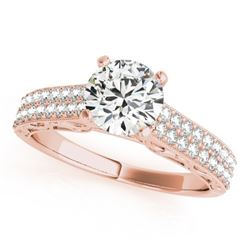 1.16 CTW Certified VS/SI Diamond Solitaire Antique Ring 18K Rose Gold - REF-219H3A - 27316