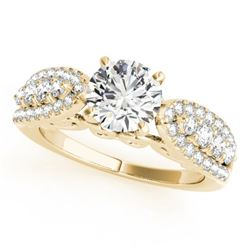 1.45 CTW Certified VS/SI Diamond Solitaire Ring 18K Yellow Gold - REF-240W4F - 27872