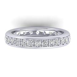 1.33 CTW Certified VS/SI Diamond Eternity Band Ladies 14K White Gold - REF-98A5X - 30327