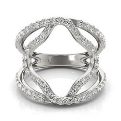 0.75 CTW Certified VS/SI Diamond Fashion Ring 18K White Gold - REF-94H9A - 28274