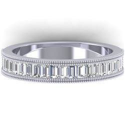 1 CTW Baguette VS/SI Diamond Art Deco Eternity Band 14K White Gold - REF-107T3M - 30315