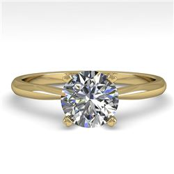 1.0 CTW VS/SI Diamond Engagement Designer Ring 18K Yellow Gold - REF-289N5Y - 32398