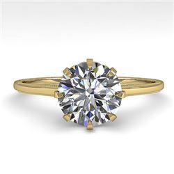 1.50 CTW Certified VS/SI Diamond Engagement Ring 18K Yellow Gold - REF-567K2W - 35758