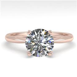 1.50 CTW VS/SI Diamond Engagement Designer Ring 18K Rose Gold - REF-577M5H - 32432