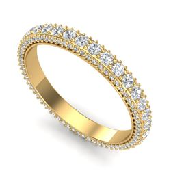 1.87 CTW VS/SI Diamond Art Deco Eternity Men's Band Size 10 18K Yellow Gold - REF-161W8F - 37210