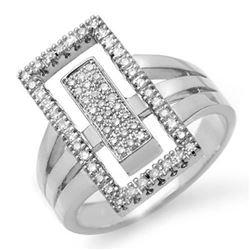 0.45 CTW Certified VS/SI Diamond Ring 14K White Gold - REF-105W3F - 14482