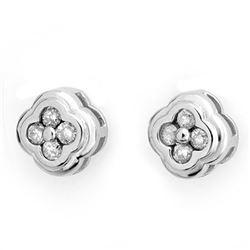 0.50 CTW Certified VS/SI Diamond Earrings 14K White Gold - REF-47W3F - 10516