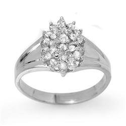 0.25 CTW Certified VS/SI Diamond Ring 14K White Gold - REF-32Y2K - 13392
